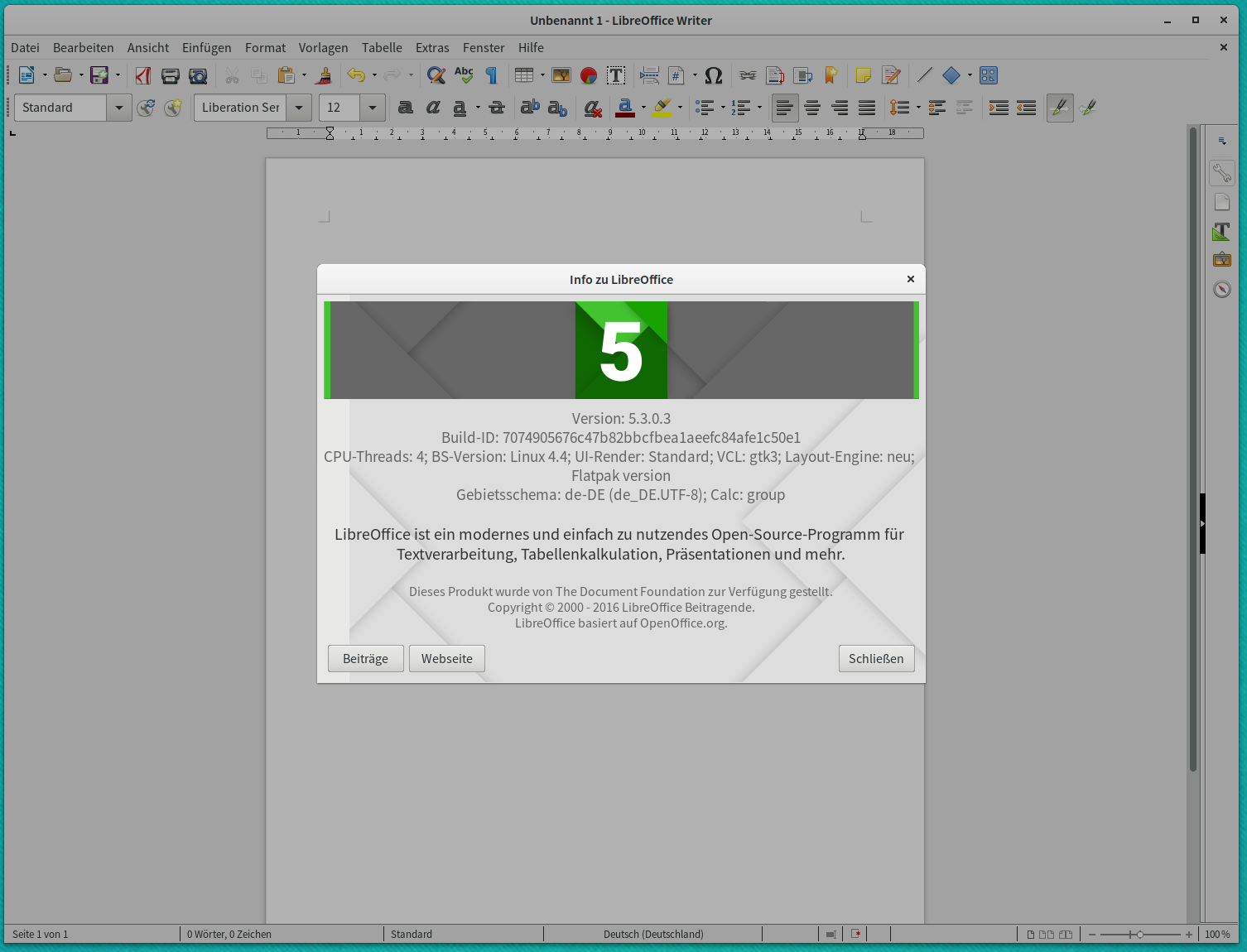 Bloerg: How to install LibreOffice 5 3 from flatpak on